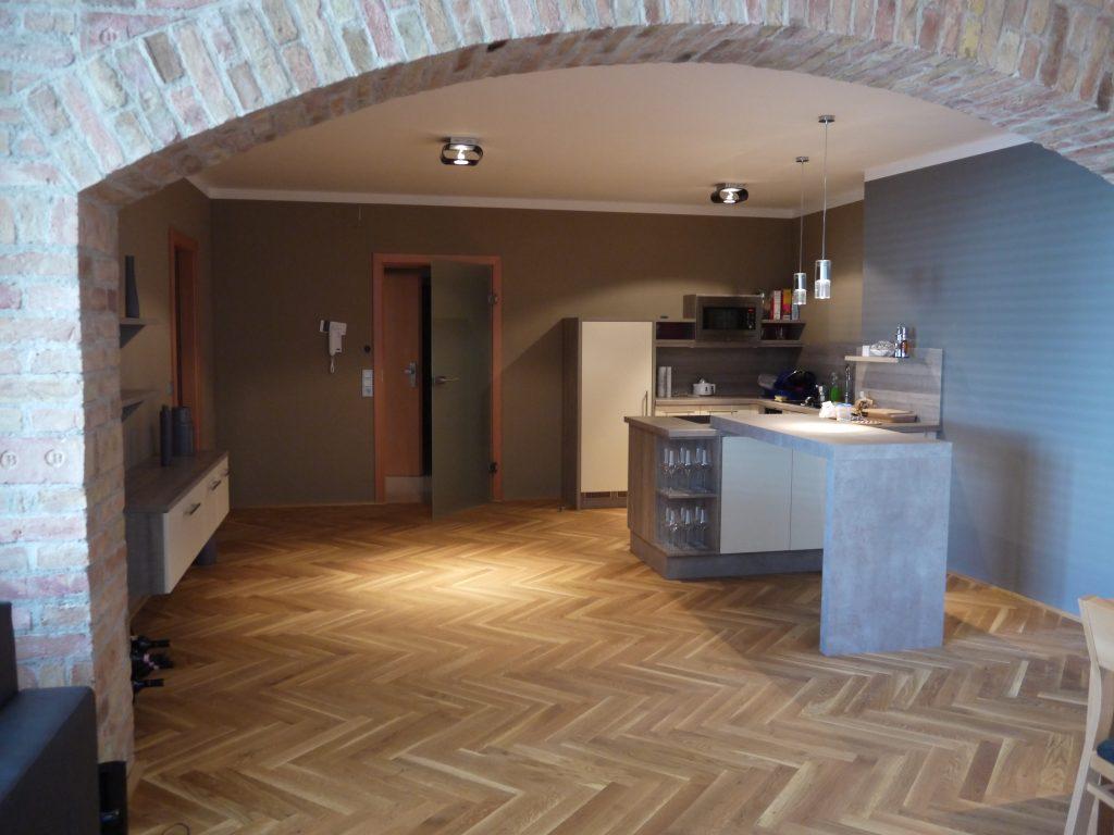Küche mit Pult