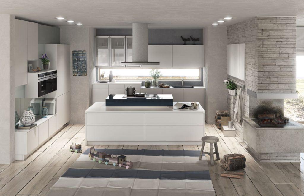 Wohnküche mit Insel